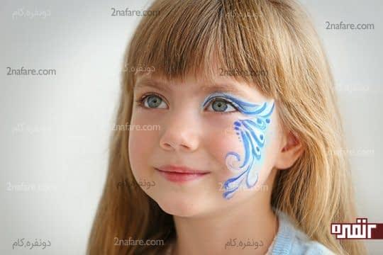 نقاشی پری دریایی روی صورت