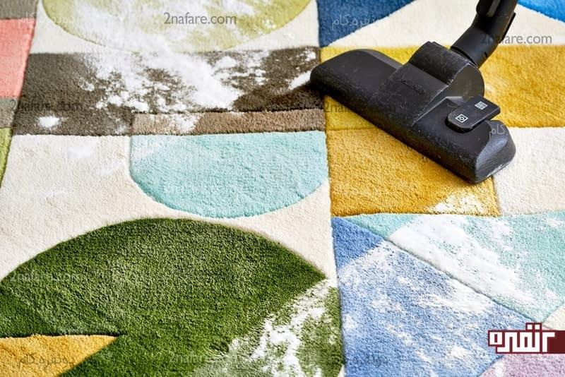 گندزدایی فرش و رفع بوی نامطبوع فرش با کمک جوش شیرین