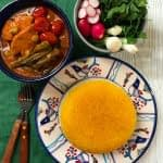 طرز تهیه خورشت بامیه با مرغ سریع و آسان