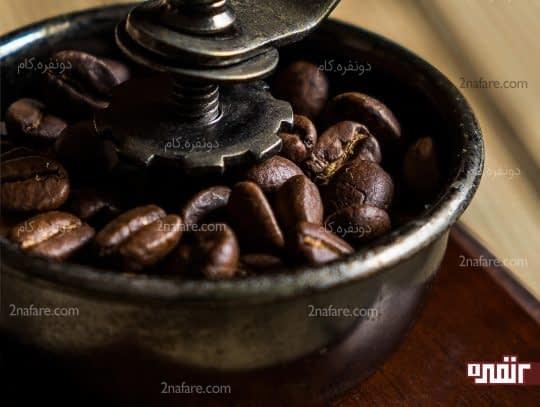 خرد کردن دانه های قهوه