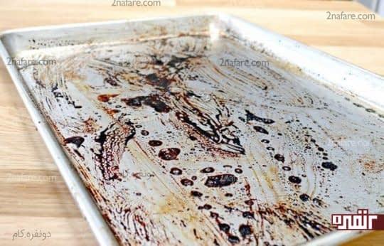 تمیز کردن تابه یا سینی ورقه ای با یک روش ساده