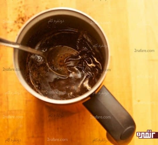 مخلوط کردن آب و قهوه