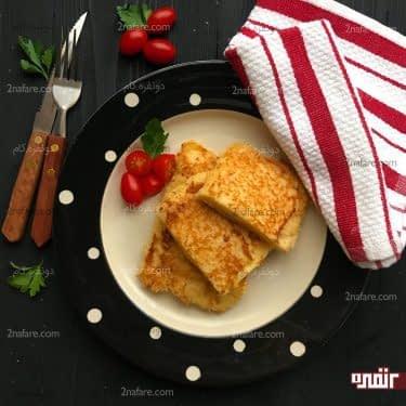 فرنچ تست کالباس و پنیر