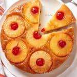 طرز تهیه کیک وارونه آناناس مرحله به  مرحله
