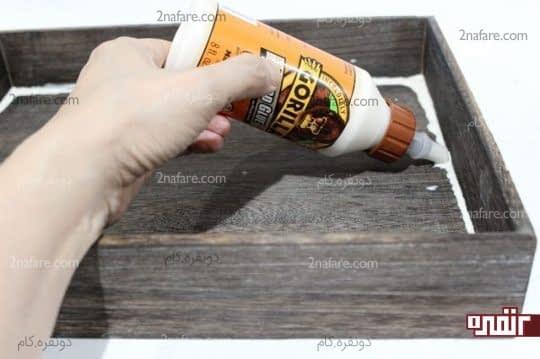 آب بندی کردن سینی چوبی