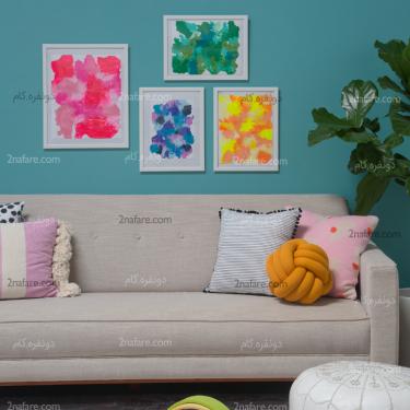 آموزش ساخت تابلوهای رنگی ساده و جذاب