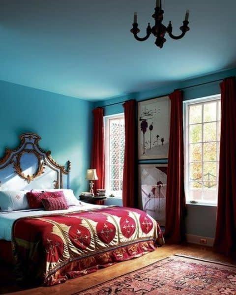 اتاق خواب دورنگ و جذاب