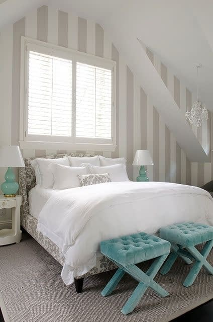 اتاق خواب شیک و آرامبخش با حفظ تناسب رنگها