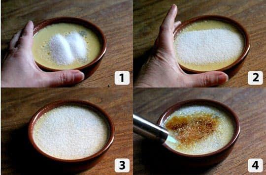 استفاده از بلو ترچ برای کاراملایز کردن شکر