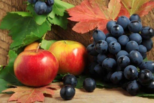 انگور و سیب برای از بین بردن رادیکال های آزاد
