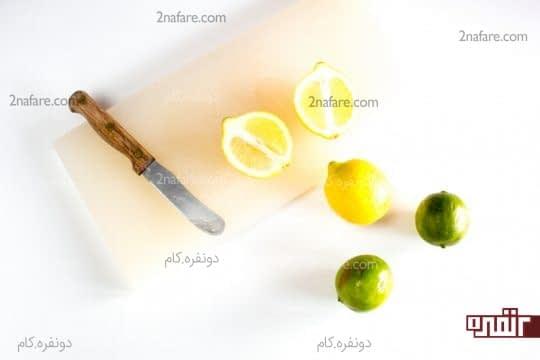 برش زدن لیمو