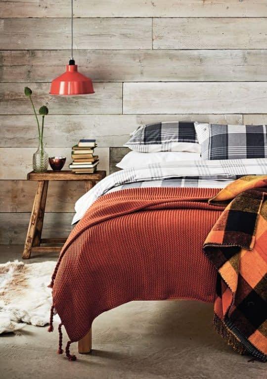 تزیین دکور اتاق خواب با رنگهای پاییزی