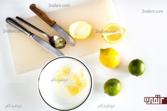 خالی کردن پوست لیمو