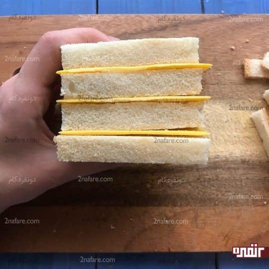 طبقه های نان و پنیر