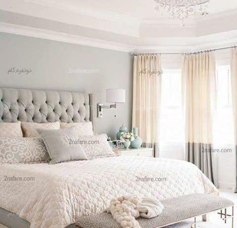 طراحی دکور اتاق خواب با رنگ های خنثی