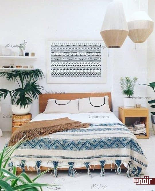 طراحی دکور اتاق خواب به سبک سنتی و بوهو