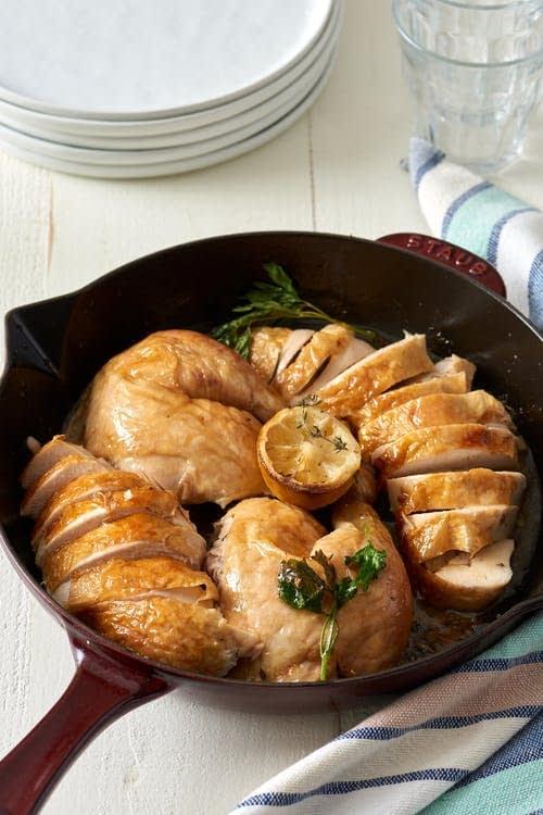 مرغ کبابی در فر