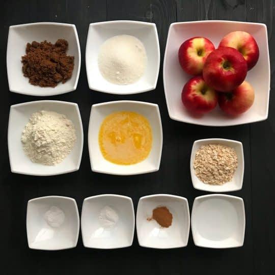 مواد لازم برای تهیه دسر سیب برشته