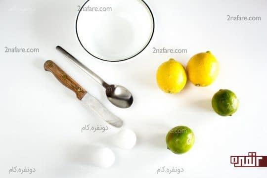 وسایل مورد نیاز برای ساخت شمع میوه ای لیمو