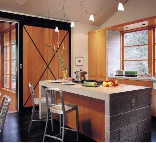 پس زمینه طبیعی بعنوان بک اسپلش آشپزخانه