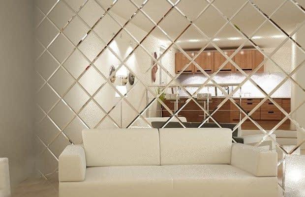 کاشی های آینه ای برای تزیین دیوار