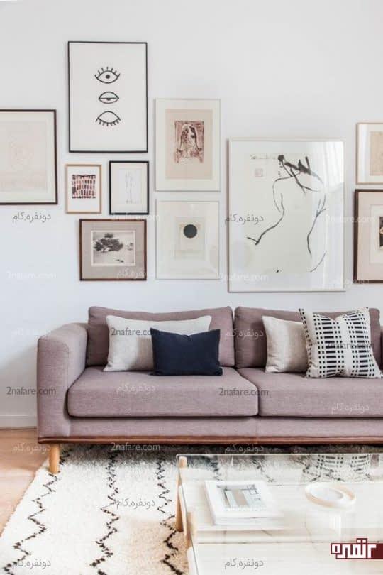 کلکسیون دیواری با تابلوهای هنری