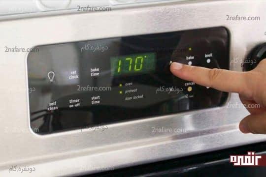 گرم کردن فر