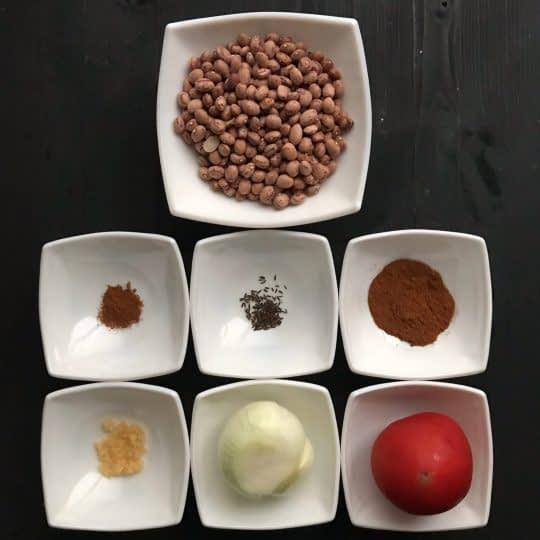 مواد لازم برای تهیه خوراک لوبیا