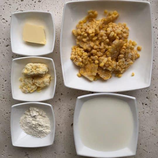 مواد لازم برای تهیه ذرت خامه ای