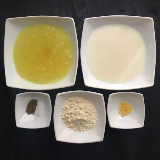 مواد لازم برای تهیه سوپ کرم مرغ