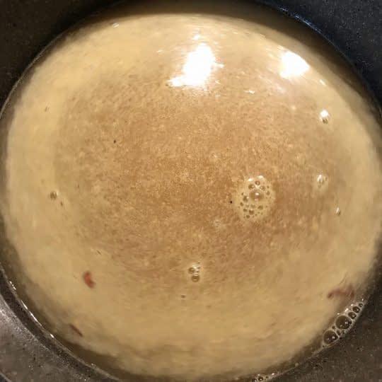 اضافی کردن مابقی آب مرغ