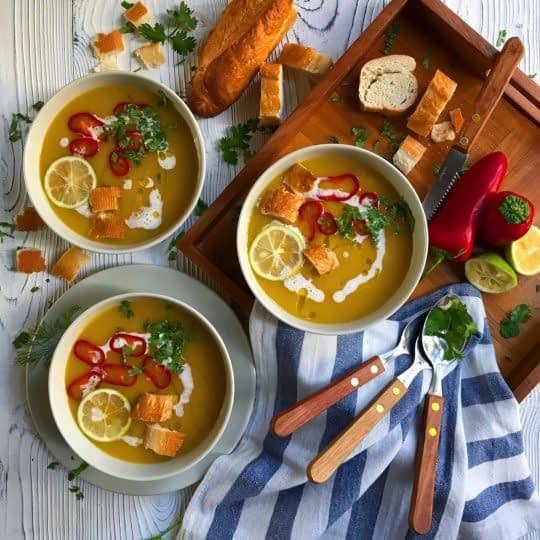 طرز تهیه سوپ کدو حلوایی ساده مرحله به مرحله