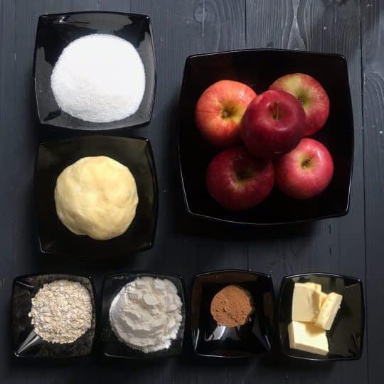 مواد لازم برای تهیه پای سیب