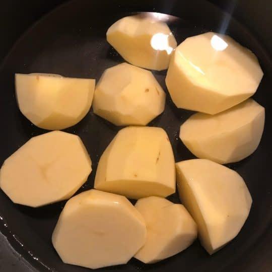 پختن سیب زمینی