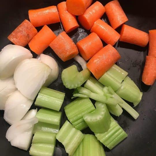 افزودن سبزیجات