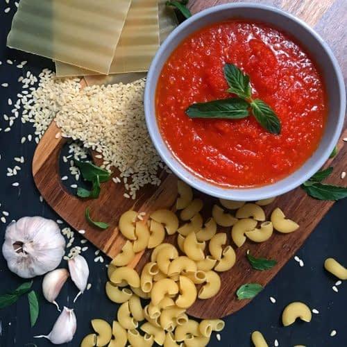 سس گوجه فرنگی مخصوص پاستا و لازانیا