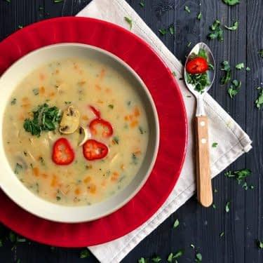 سوپ جو و سبزیجات