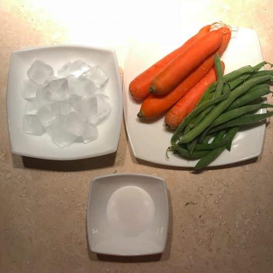 مواد لازم برای بلانچ کردن سبزیجات