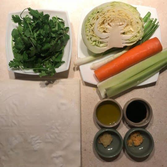 مواد لازم برای تهیه بورک سبزیجات