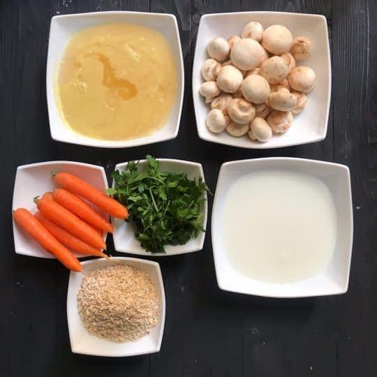 مواد لازم برای تهیه سوپ جو و سبزیجات