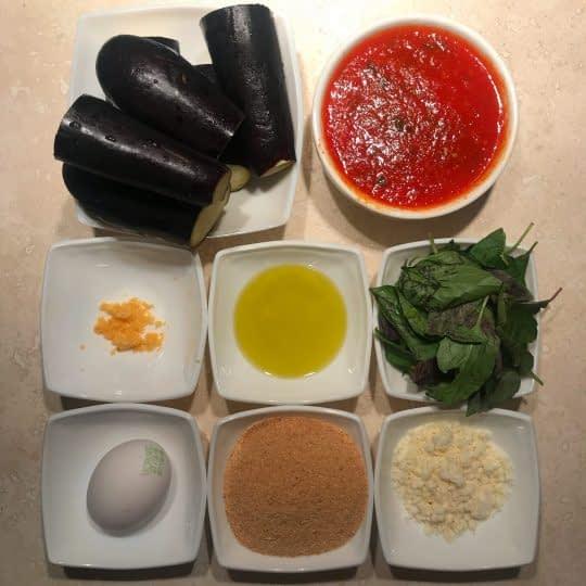 مواد لازم برای تهیه کوفته بادمجان