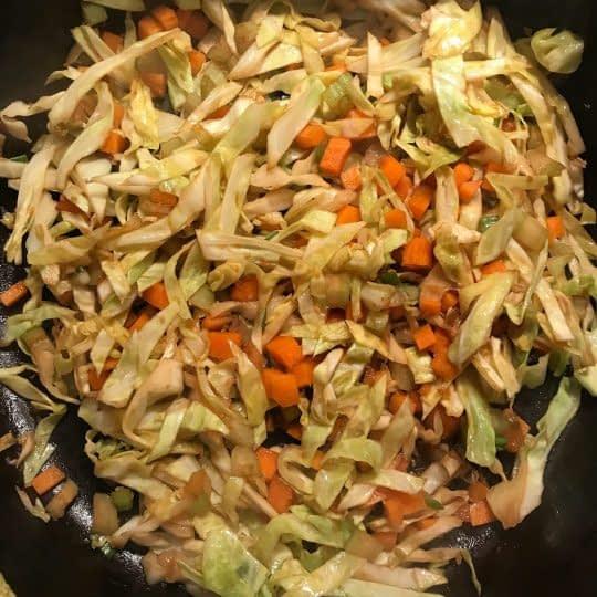 نرم شدن سبزیجات