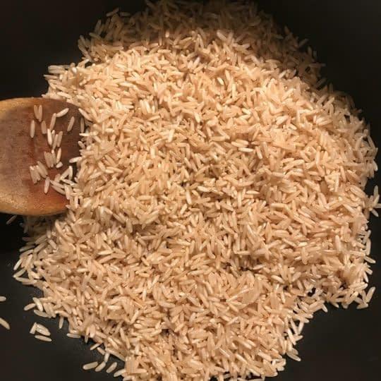 تفت دادن برنج