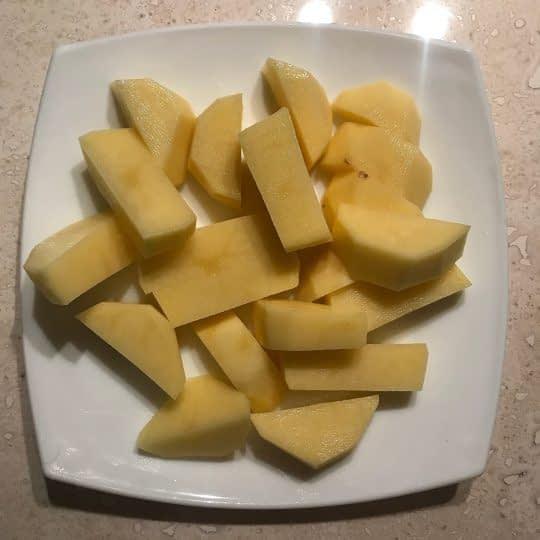 خرد کردن سیب زمینی