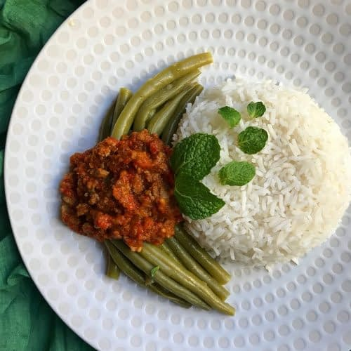 خورشت لوبیا سبز و گوشت