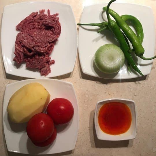 مواد لازم برای تهیه کباب تابه ای مخلوط