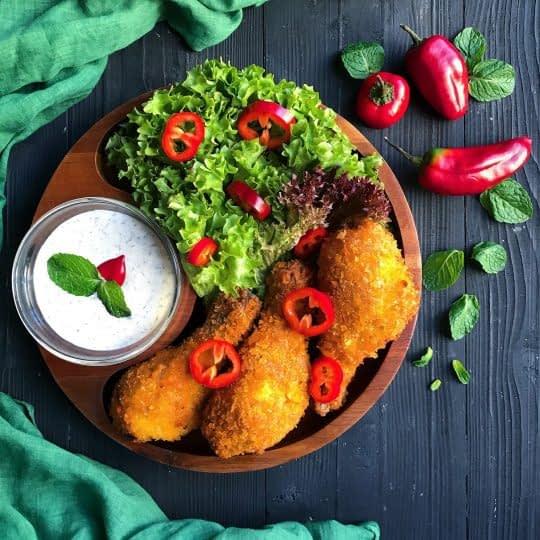 ران مرغ سوخاری بدون پوست