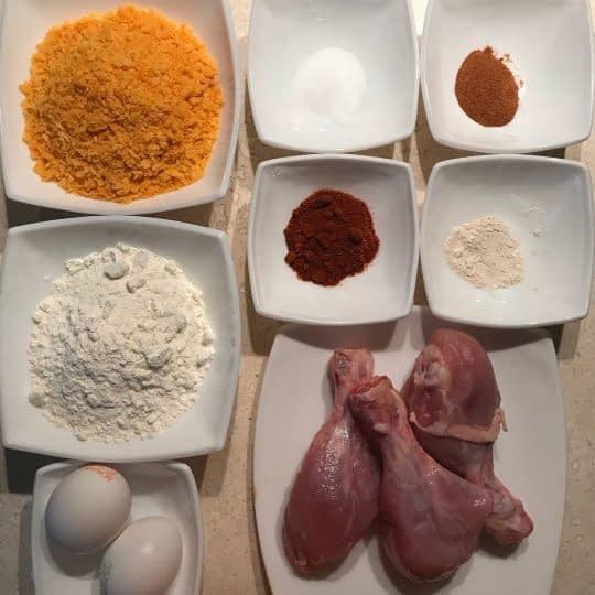 مواد لازم برای تهیه ران مرغ سوخاری بدون پوست