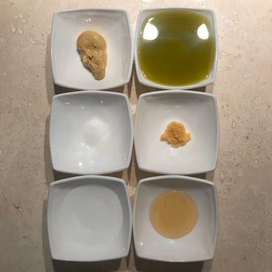 مواد لازم برای تهیه سس وینیگرت