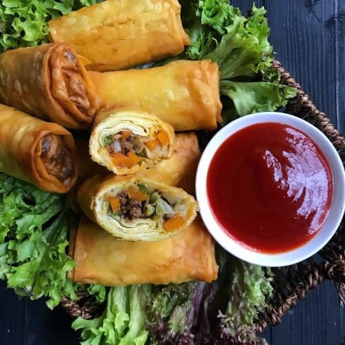 meat and vegetable egg rolls